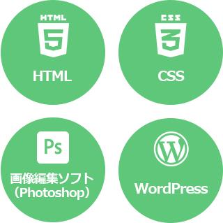 HTML CSS 画像編集ソフト(Photoshop) WordPress